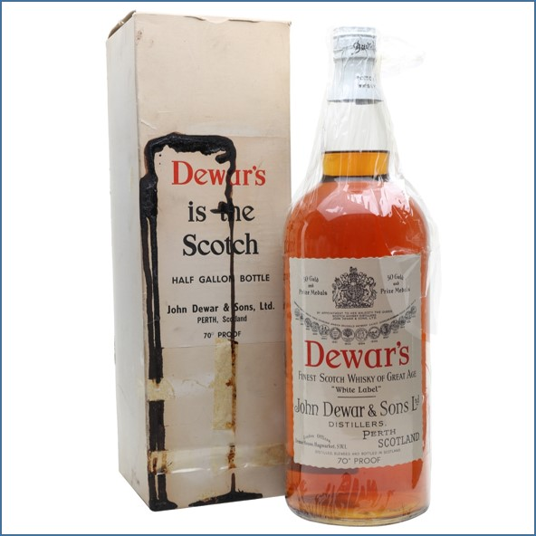 Dewar's Half Gallon Spring Cap Bot.1950s Blended Scotch Whisky 227cl 40%