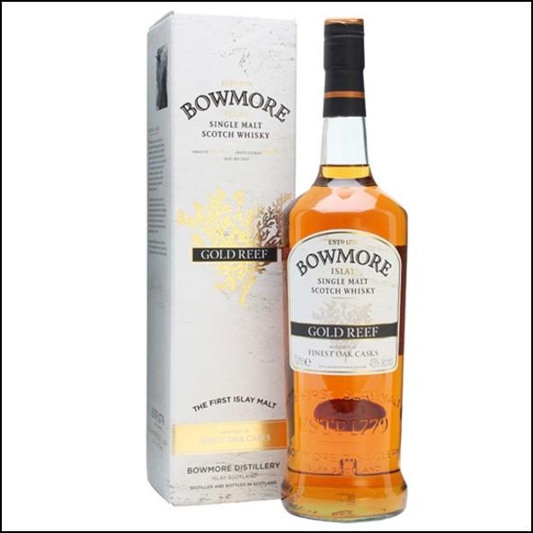 Bowmore Gold Reef 100cl 43%/波摩 Gold Reef 旅人-金礁/Bowmore Whisky 波摩威士忌收購價格表/台灣洋酒收購中心