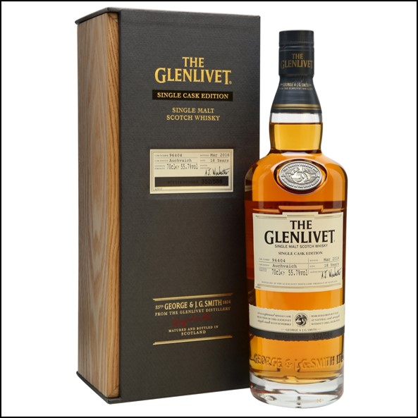 GLENLIVET 18 YEAR OLD AUCHVAICH Single Cask 70cl 55.7%