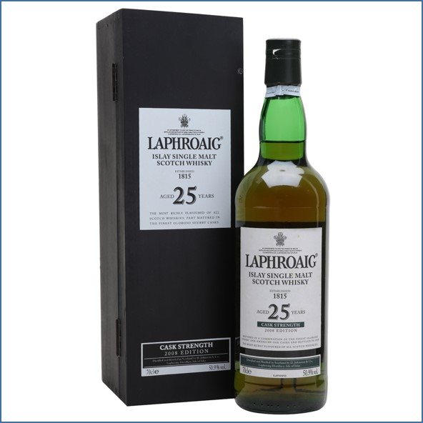 Laphroaig 25 Year Old Cask Strength Bot.2008 70cl 50.9% /Bot.2009 51%/  Bot.2011 48.6%/ Bot.2012 46.7%