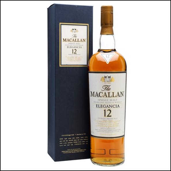 收購麥卡倫12年 ELEGANCIA-曼妙瓶草寫酒標/Macallan Elegancia Bot.2004 100cl 40%