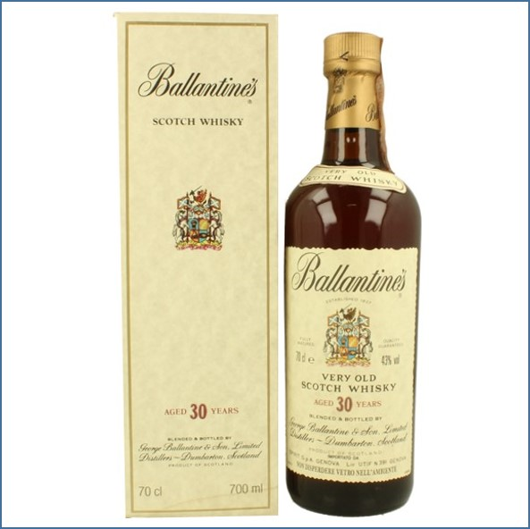 Ballantine's 30 Year Old Blended Scotch Whisky Bot.90's 70cl 43%