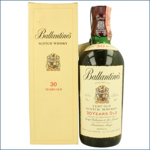 Ballantine's 30 Year Old Blended Scotch Whisky 75cl 43%