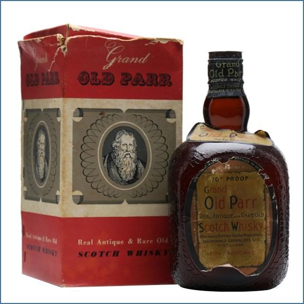 Grand Old Parr Spring cap Bottled 1950s 75cl 40%