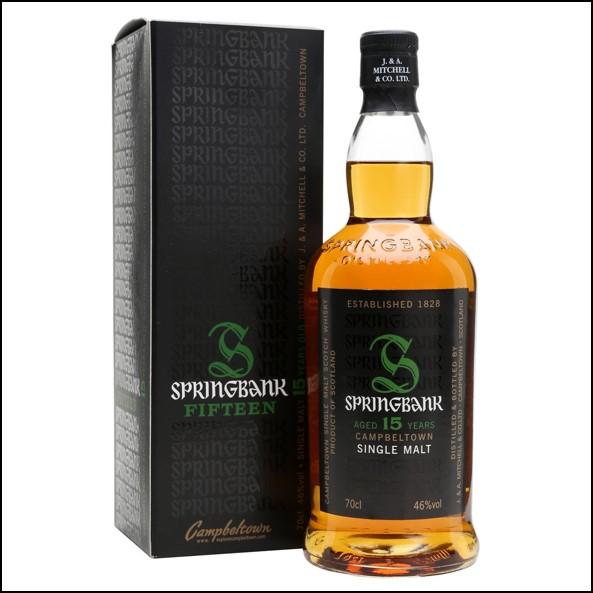 雲頂威士忌15年收購/Springbank 15 Year Old Campbeltown Single Malt Scotch Whisky 70cl 46%