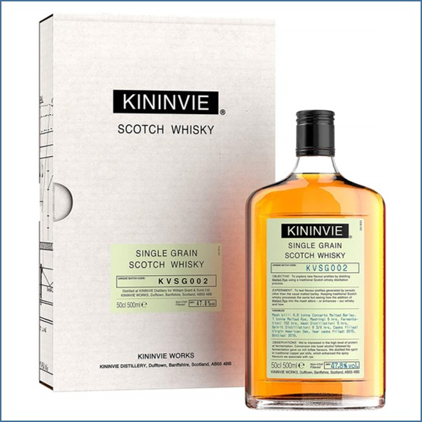 Kininvie KVSG002 Single Grain Whisky 50cl 47.8%