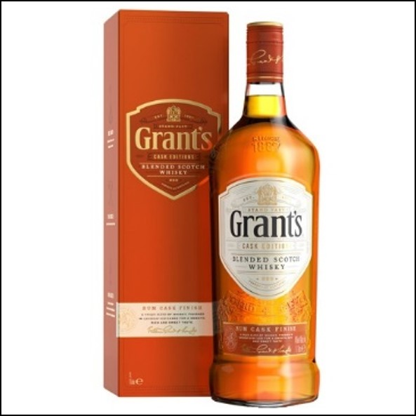 Grant's Rum Cask Finish Blended Scotch Whisky 100cl 40%