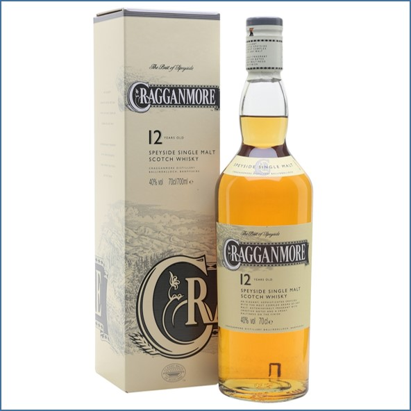 Cragganmore 12 Year Old Speyside Single Malt Scotch Whisky 70cl 40%