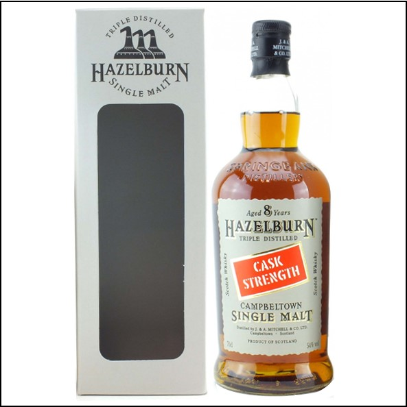 Hazelburn 8 Year Old Cask Strength Campbeltown Single Malt Scotch Whisky 70cl 54%