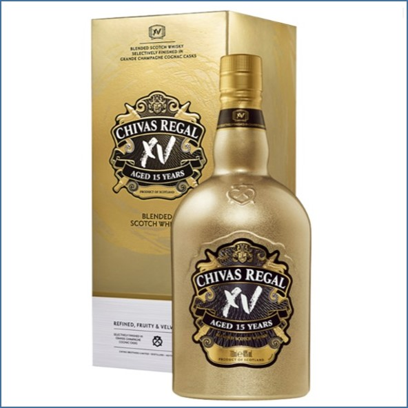 Chivas Regal 15 years old XV Gold Blended Scotch Whisky 70cl 40%