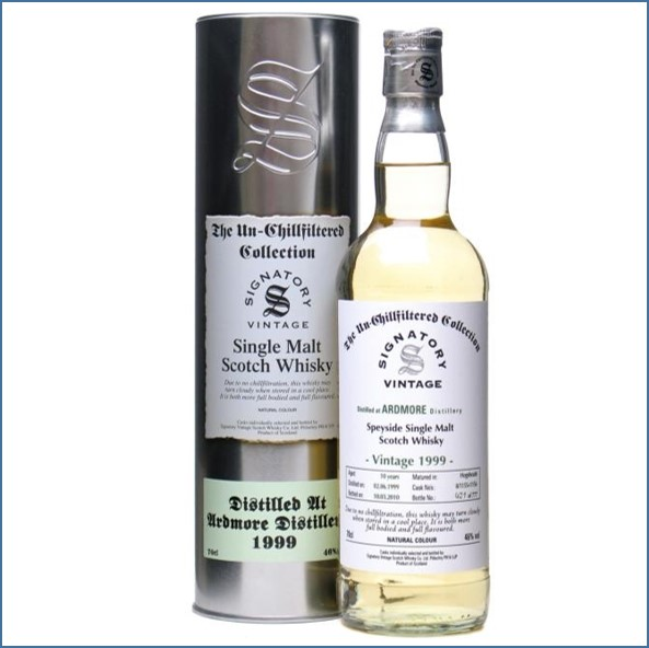 Ardmore 10 Year Old 1999 Unchilfiltered Signatory 70cl 46%