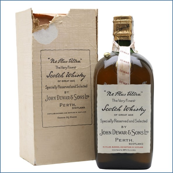 Ne Plus Ultra (Dewar's)Bot.1940s Spring Cap Blended Scotch Whisky 75cl 43%