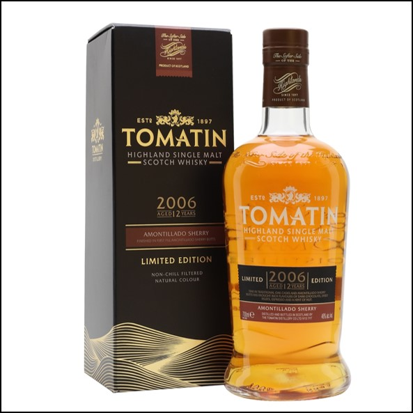 Tomatin 2006  12 Year Old  Amontilado Finish 70cl 46%
