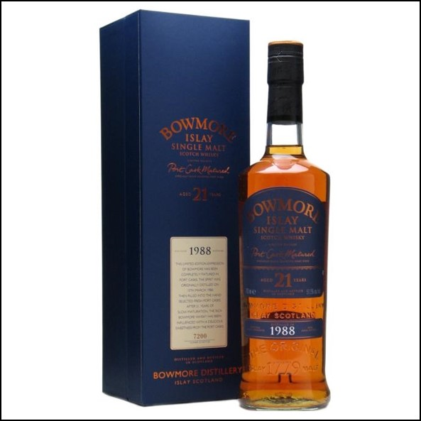 Bowmore 21 Year Old 1988  Port Wood Matured 70cl 51.5%