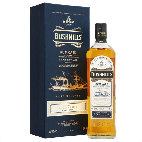 波希米爾愛爾蘭威士忌收購/Bushmills Rum Cask Reserve - Steamship Collection 70cl 40%