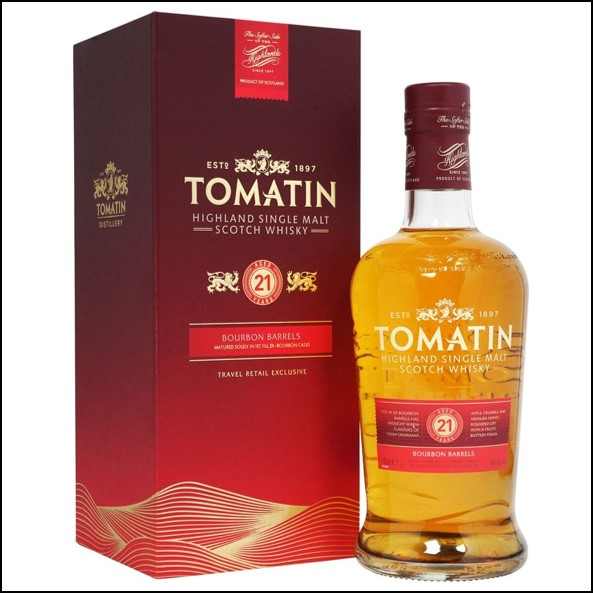 Tomatin 21 Year Old - Bourbon Barrel 70cl 46%