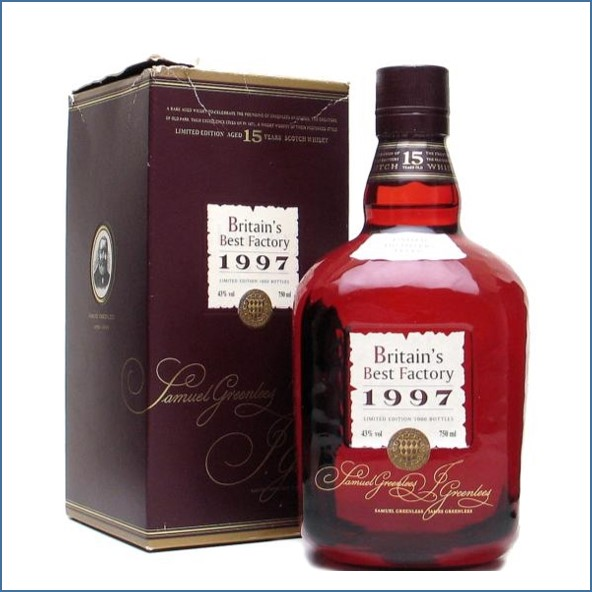 Old Parr 15 Year Old  Britain's Best Factory 1997 75cl 43%