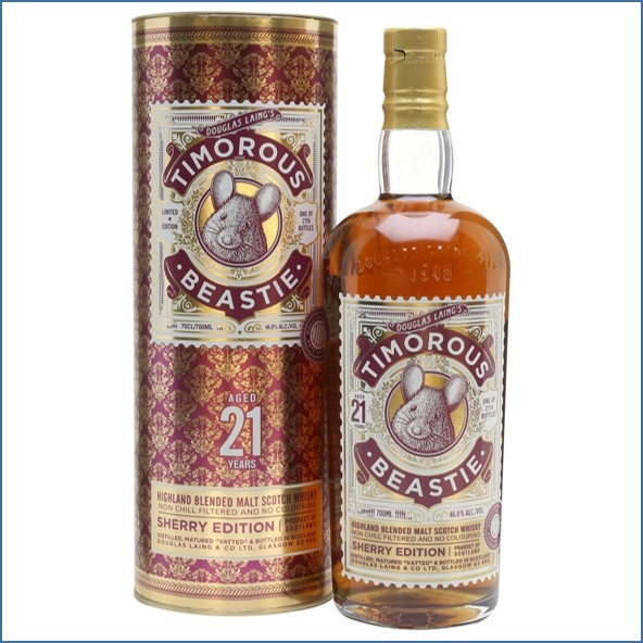 Timorous Beastie 21 Year Old Sherry Edition Highland Blended Malt Scotch Whisky Douglas Laing 70cl 46.8%