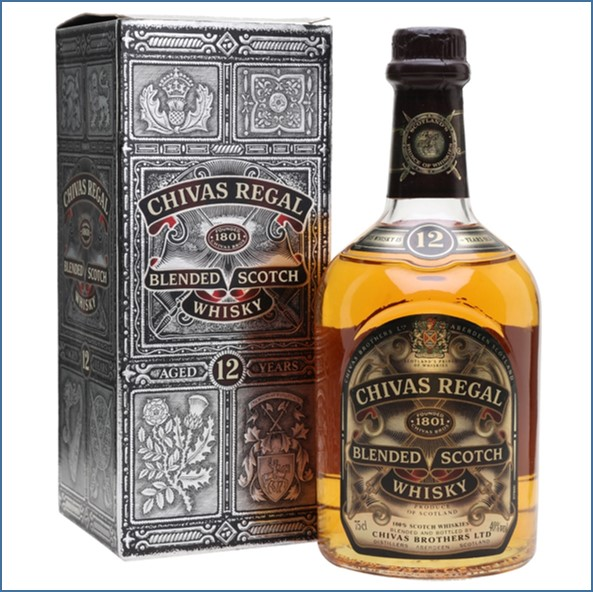 Chivas Regal 12 Year Old For Employees 1998 Blended Scotch Whisky 75cl 43%