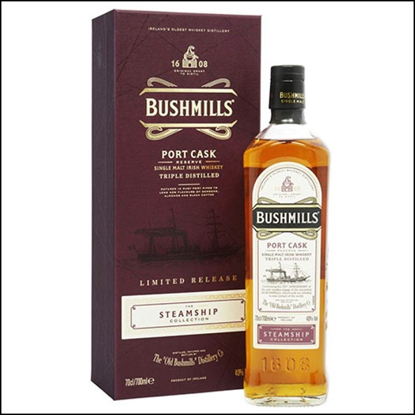波希米爾愛爾蘭威士忌收購/Bushmills Steamship Port Cask Single Malt Irish Whiskey 70cl 40%