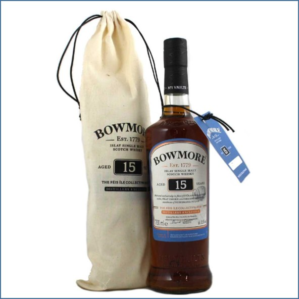 Bowmore 15 Year Old Sherry Cask / Feis Ile 2018 Bottle Number 1 - Islay Defibrillator Challenge 52.5%