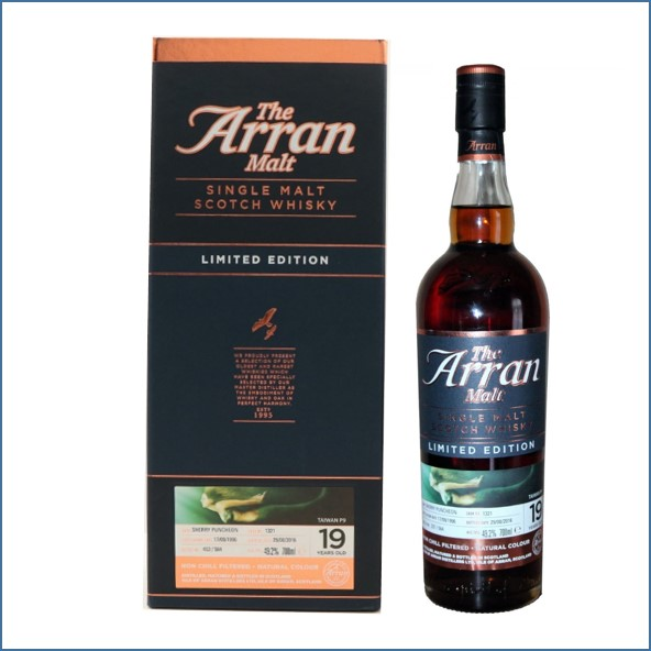 Arran 1996 Single Cask 19 Year Old 70cl 49.2%  Limited Edition- Taiwan