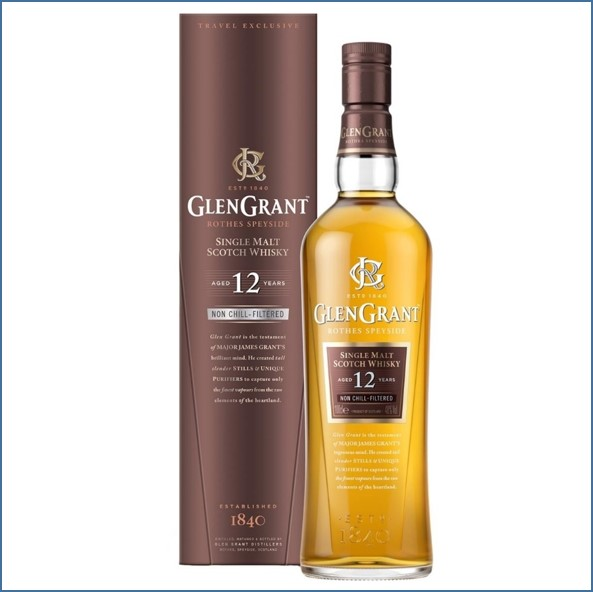 Glen Grant 12 Year Old Speyside Single Malt Scotch Whisky 100cl 48%