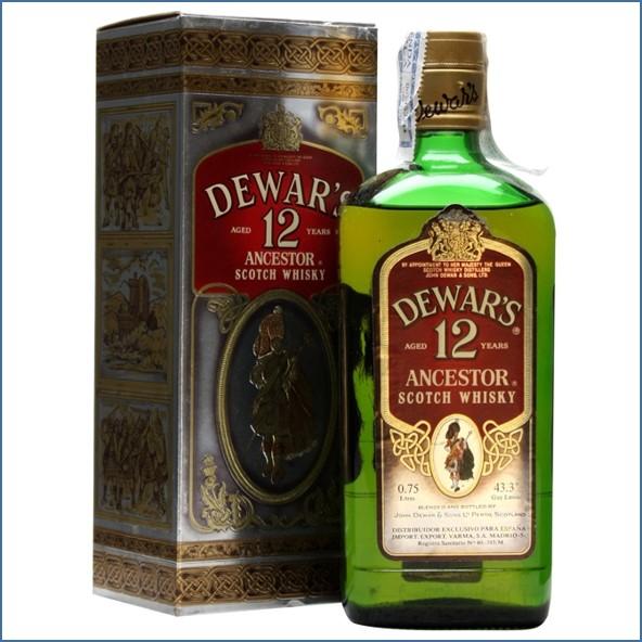 Dewar's Ancestor 12 Year Old Bot.1980s Blended Scotch Whisky 75cl 43.3%