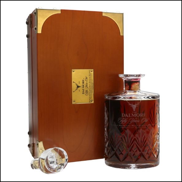 DALMORE 50 YEAR OLD Sherry Cask Crystal Decanter 70cl 52%  大摩50年威士忌收購