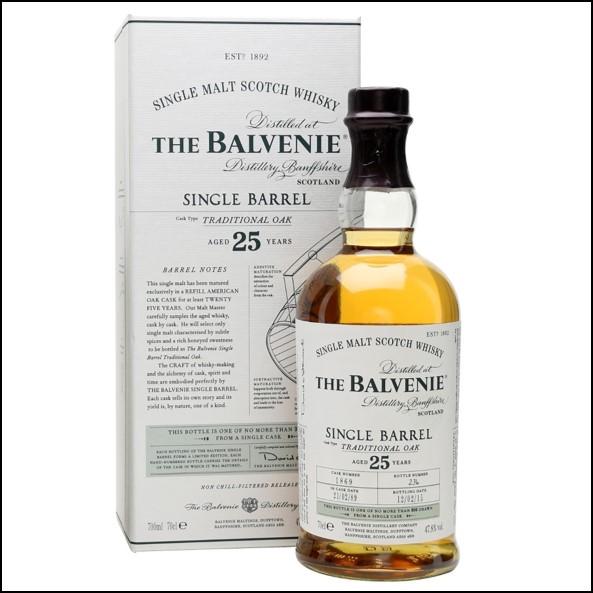 Balvenie 25 Year Old  Single Barrel 70cl 47.8%