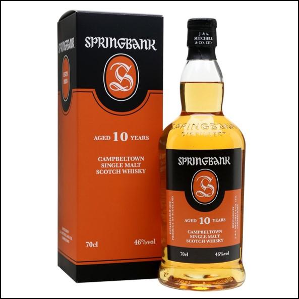 雲頂威士忌10年收購/Springbank 10 Year Old Campbeltown Single Malt Scotch Whisky 70cl 46%