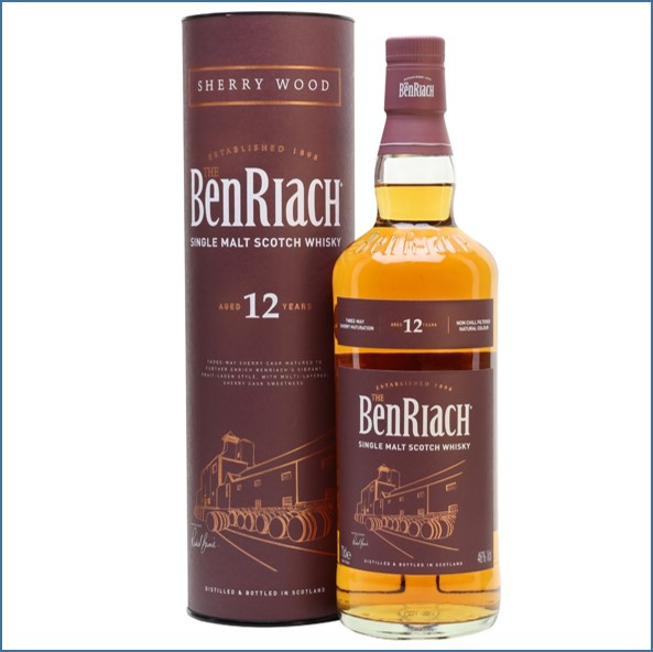 Benriach 12 Year Old Sherry Wood 70cl 46% 紅鼎 雪莉桶