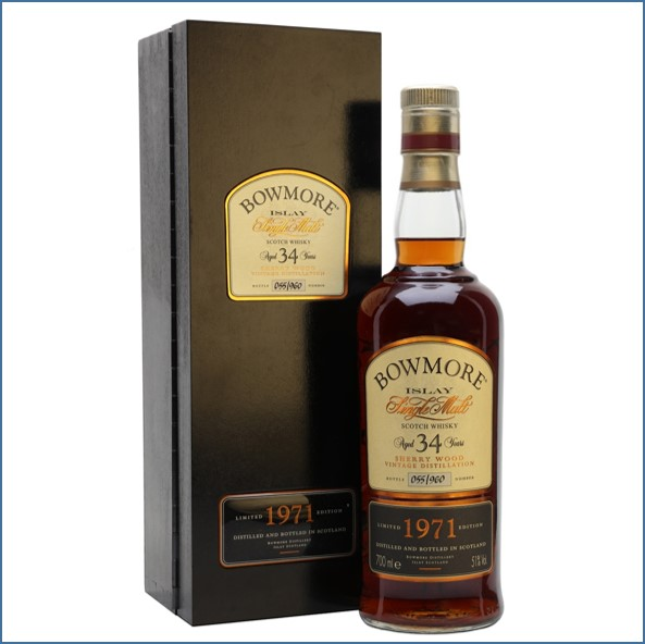 Bowmore 34 Year Old 1971 Sherry Cask 70cl 51%