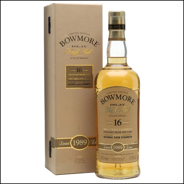 Bowmore 16 Year Old 1989 Bourbon Cask  70cl 51.8%