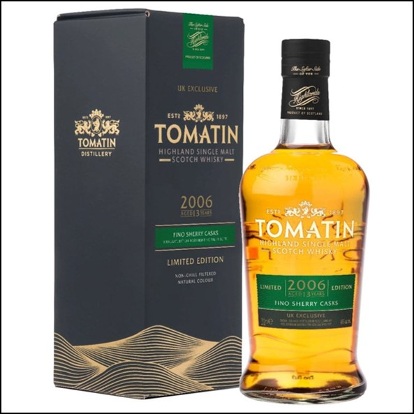 Tomatin 2006 - 13 Year Old - Fino Sherry Cask Finish - UK Exclusive 70cl 46%