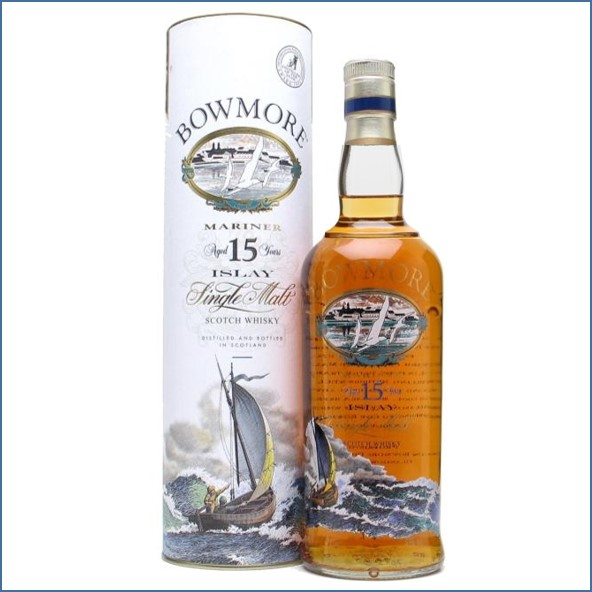 Bowmore 15 Year Old Mariner  Screen Printed Label 70cl 43%