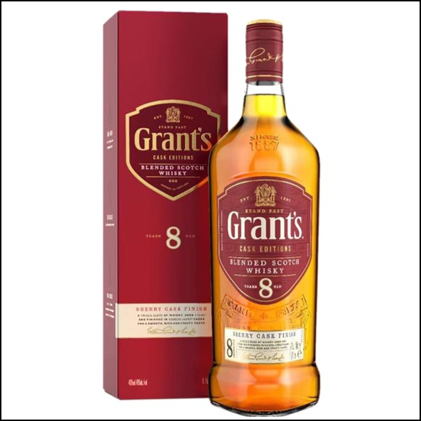 Grant's 8 Year Old Sherry Cask Scotch Whisky 70cl 40%