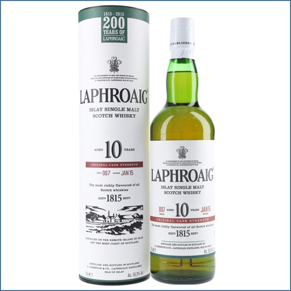拉佛格10年原酒收購 Laphroaig 10 Year Old Cask Strength Batch 007 Bot.2015 70cl 56.3%