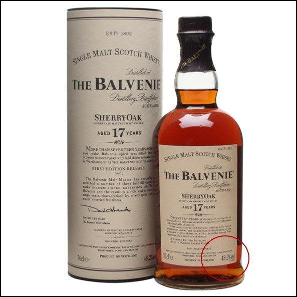 Balvenie 17 Year Old Sherry Cask First Release 70cl 48.2%
