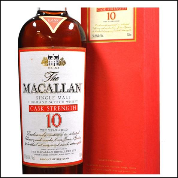麥卡倫10年原酒 曼妙瓶-酒標草寫/Macallan 10 Year Old Cask Strength 100cl