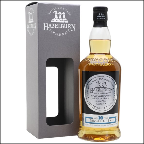 Hazelburn 10 Year Old Bourbon Cask 2007-2018 Campbeltown Single Malt Scotch Whisky 70cl 53.9%