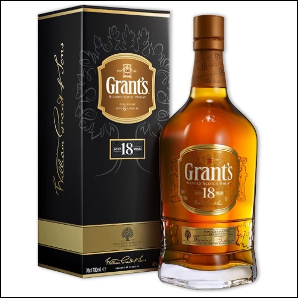 Grant's 18 Year Old Blended Scotch Whisky 70cl 40%
