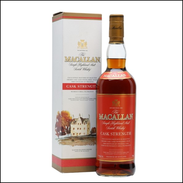 麥卡倫原酒/圓瓶-莊園版紅色酒標 Macallan Cask Strength Red Label Speyside Single Malt Scotch Whisky 75cl 58.6%