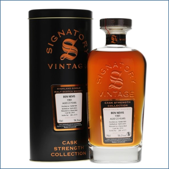 Ben Nevis  23 Year Old 1991 Sherry #2914 Signatory 70cl 56.3%