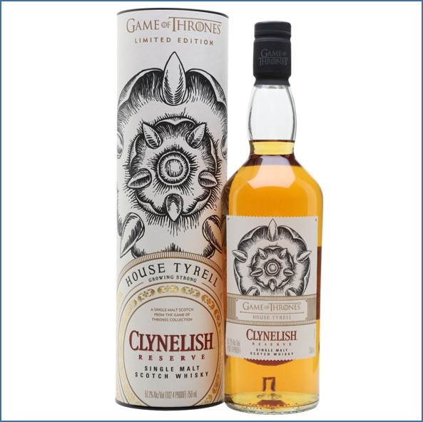Clynelish Reserve Game of Thrones House Tyrell Highland Single Malt Scotch Whisky 70cl 51.2%