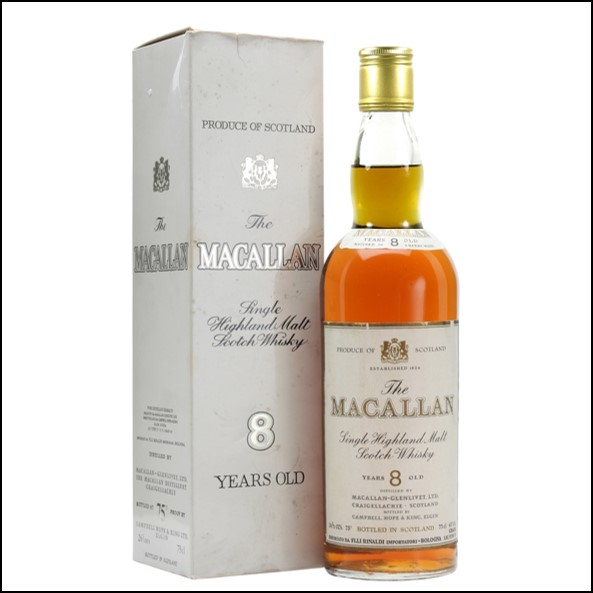 麥卡倫8年/金屬蓋 Macallan 8 Year Old Bot.1970s Speyside Single Malt Scotch Whisky 75cl 43%
