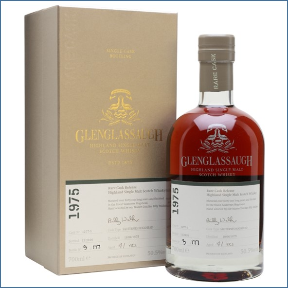 Glenglassaugh 1975 41 Year Old Cask #1277-1 Matured in a Sauternes Hogshead Rare Cask Release Batch 3 70cl 50.5%