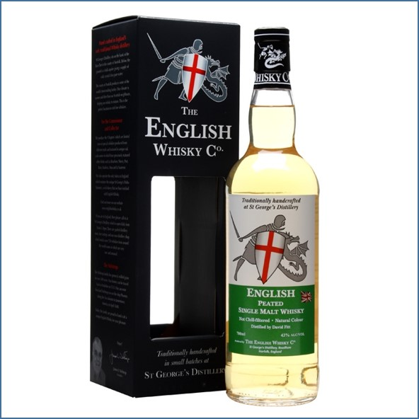 The English Whisky Co. Peated 70cl 43% 英國英吉利  Peated 泥煤