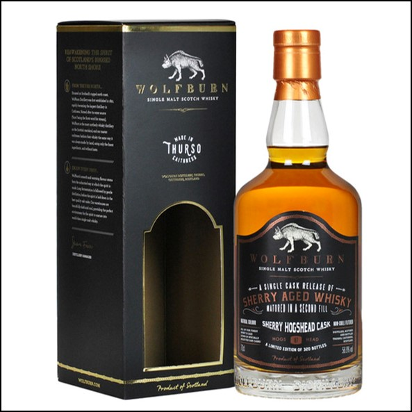 Wolfburn Single Sherry Cask 2019 Limited Edition Whisky 70cl 56.9%