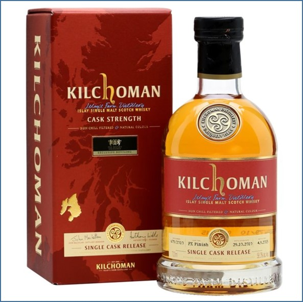 Kilchoman 2015  4 Year Old Single Cask PX Finish TWE Exclusive 2010 70cl 58.3%